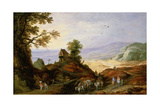 Landscape with a Chapel on a Hill, Late 16th or 17th Century Giclee Print by Joos De Momper The Younger