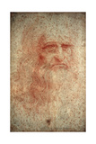 Self Portrait of Leonardo Da Vinci, Italian Painter, Sculptor, Engineer and Architect, C1513 Giclee Print by  Leonardo da Vinci