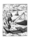 Fisherman, 16th Century Giclee Print by Jost Amman