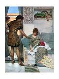 A Silent Greeting, 1908-1909 Giclee Print by Lawrence Alma-Tadema