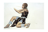 Beotien, Costume Design a Ballets Russes Production of Narcisse, Music by Tcherepnin, 1911 Giclee Print by Leon Bakst