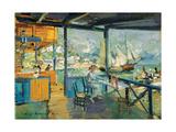 Pier in Gurzuf, 1914 Giclee Print by Konstantin Korovin