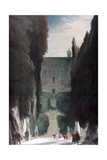 The Garden of the Villa D'Este, 1830 Giclee Print by Karl Blechen