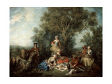 The Autumn, 1738 Giclee Print by Nicolas Lancret
