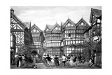 16th Century Timberwork at Little Moreton, 1925 Giclee Print by Joseph Nash