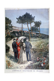 Franz Joseph I, Emperor of Austria, on a Visit to France, 1894 Giclee Print by Jose Belon