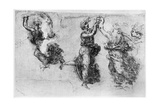 Dancing Women, Late 15th or Early 16th Century Giclee Print by  Leonardo da Vinci