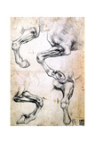 Four Studies of Horses' Legs, C1500 Giclee Print by  Leonardo da Vinci
