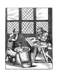 Thimble Makers, 16th Century Giclee Print by Jost Amman