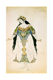 The Tsarevna, Costume Design for the Ballets Russes Production of Stravinsky's the Firebird, 1910 Giclee Print by Leon Bakst