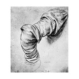 Study for the Sleeve of the Right Arm of St Peter, 15th Century Giclee Print by  Leonardo da Vinci