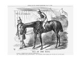 Out of the Race, 1864 Giclee Print by John Tenniel