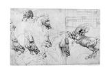 Study for the Battle of Anghiari, C1503-1505 Giclee Print by  Leonardo da Vinci