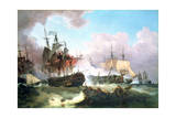 The Battle of Camperdown, 1799 Giclee Print by Philip James De Loutherbourg