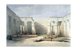 Medinet Abou, Thebes, 5th December 1832, Egypt, 19th Century Giclee Print by Louis Haghe