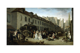 The Arrival of a Stagecoach at the Terminus, Rue Notre-Dame-Des-Victoires, Paris, 1803 Giclee Print by Louis Leopold Boilly