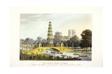 The Chinese Bridge and Pagoda, Erected in St James's Park, London, 1814 Giclee Print by Matthew Dubourg
