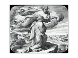 Moses Views the Land of Israel, 19th Century Giclee Print by Julius Schnorr von Carolsfeld