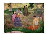 Les Parau Parau (Conversation), 1891 Giclee Print by Paul Gauguin