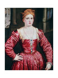Portrait of a Young Woman, C1550 Giclée-tryk af Paris Bordone