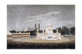 Firework Display in Green Park, Westminster, London, 1814 Giclee Print by Matthew Dubourg
