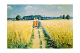 Three Women on the Road, after 1927 Giclee Print by Kazimir Malevich