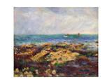 Low Tide at Yport, 1883 Giclee Print by Pierre-Auguste Renoir