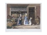 London Market, a Fruit Seller, 1822 Giclee Print by Matthew Dubourg