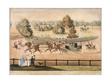 King George IV Riding Through Hyde Park, London, 1831 Giclee Print by Matthew Dubourg