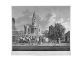 View of St Paul's Church, Deptford, London, 1822 Giclee Print by Matthew Dubourg
