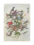 Hunting Animals, 1898 Giclee Print by Kawanabe Kyosai