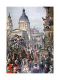 Funeral of Lajos Kossuth, Budapest, 21st March 1894 Giclee Print by Paul Merwart