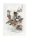 Shoki and Attendant Demons, 1898 Giclee Print by Kawanabe Kyosai