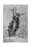 Floating Female Figure, Late 15th or Early 16th Century Giclee Print by  Leonardo da Vinci