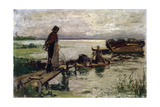 At the Seashore, 19th or Early 20th Century Giclee Print by Jozef Israels