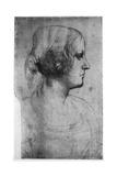 Portrait Study of a Young Girl's Head, 15th Century Giclee Print by  Leonardo da Vinci