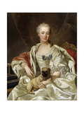 Portrait of Countess Ekaterina Golitsyna, 1759 Giclée-Druck von Louis Michel Van Loo