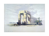 At Luxor, Thebes, Upper Egypt, 19th Century Giclee Print by Louis Haghe