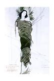 Costume Design for Italian Writer Gabriele D'Annunzio's Drama the Martyrdom of St Sebastian, 1911 Giclee Print by Leon Bakst