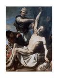 Martyrdom of St Bartholomew, 1644 Giclée-tryk af Jusepe de Ribera