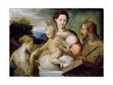 The Mystical Marriage of Saint Catherine, Late 1520S Gicleetryck av Parmigianino,