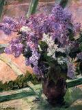 Lilacs in a Window, C1880 Giclée-tryk af Mary Cassatt