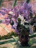 Lilacs in a Window, C1880 Giclee Print by Mary Cassatt