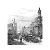 Collins Street Looking East, Melbourne, Victoria, Australia, 1886 Giclee Print by JR Ashton