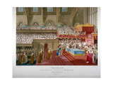 Coronation of King George IV, Westminster Hall, London, 1821 Giclee Print by Matthew Dubourg