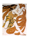 Bacchante, Costume Design for a Ballets Russes Production of Tcherepnin's Narcisse, 1911 Lámina giclée por Leon Bakst