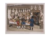 London Market, a Butchers Shop, 1822 Giclee Print by Matthew Dubourg