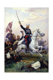 Russian General Mikhail Skobelev on Horseback Giclee Print by Nikolai Dmitrievich Dmitriev-Orenburgsky