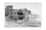 View of the Old Lime Works, Nine Elms, Battersea, London, 1875 Giclee Print by Philip Howard