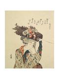 A Girl from Ohara, 1806-1815 Giclee Print by Katsushika Hokusai